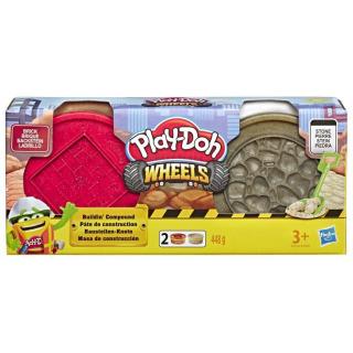 Obrázek 2 produktu Play Doh Wheels Stavební modelína Červená a šedá, Hasbro E4524