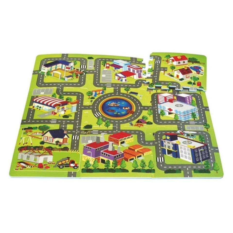 Obrázek 1 produktu Pěnové puzzle Město 9ks 32x32 cm