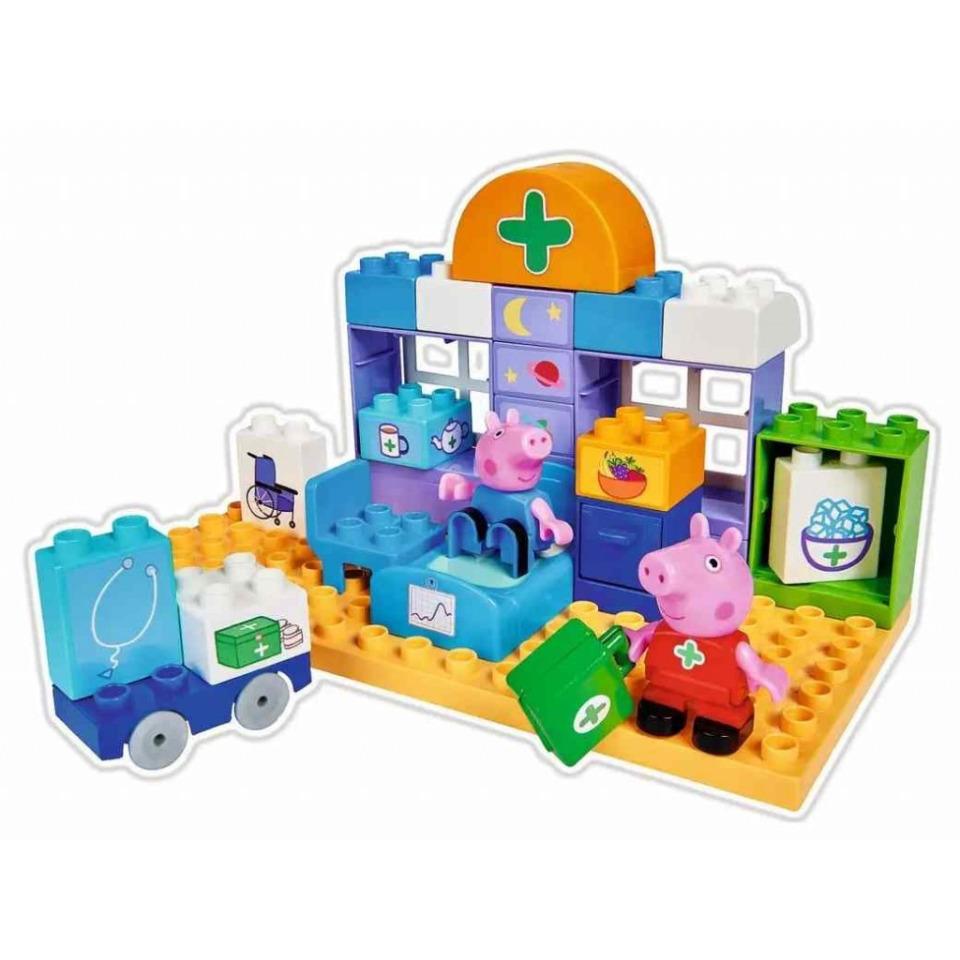 Obrázek 1 produktu PlayBIG Bloxx, Peppa Pig Nemocnice sada v kufříku