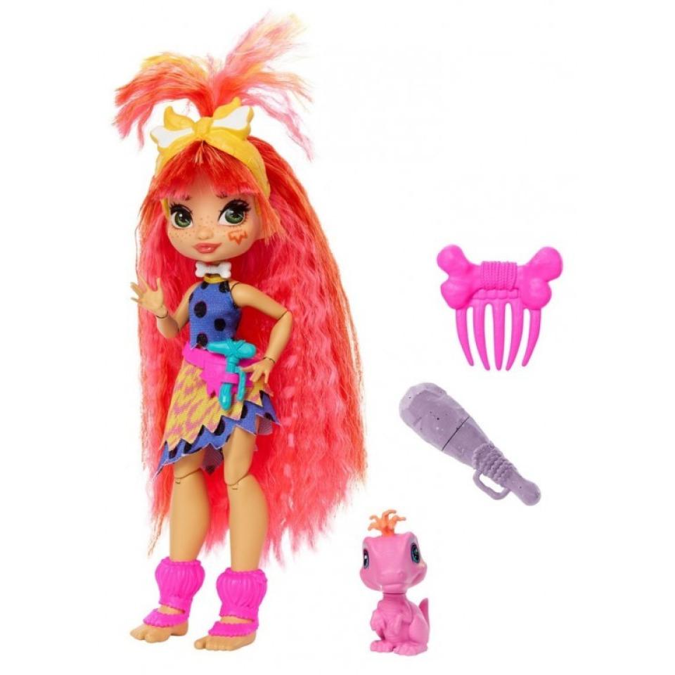 Obrázek 1 produktu Mattel CAVE CLUB Panenka Emberly s dino zvířátkem Flaire, GNL83