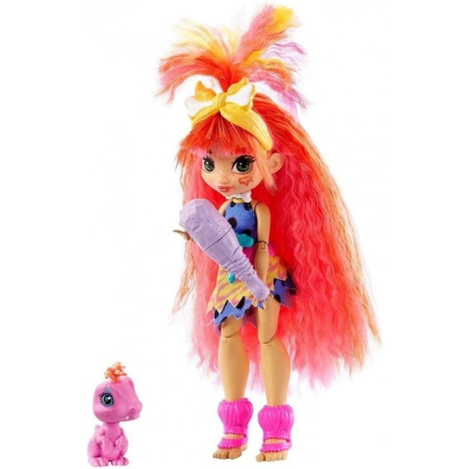 Obrázek 2 produktu Mattel CAVE CLUB Panenka Emberly s dino zvířátkem Flaire, GNL83