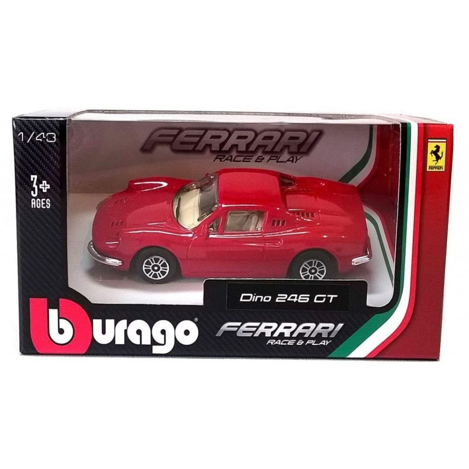 Obrázek 1 produktu Bburago FERRARI Race&Play Dino 246 GT 1:43