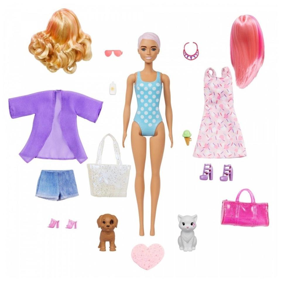 Obrázek 1 produktu Barbie COLOR REVEAL se zvířátkem Pláž vs. párty, Mattel GPD55