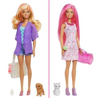 Obrázek 5 produktu Barbie COLOR REVEAL se zvířátkem Pláž vs. párty, Mattel GPD55
