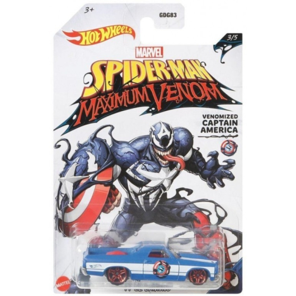 Obrázek 1 produktu Hot Wheels SUPERHRDINOVÉ Venomized Captain America, Mattel GJV26