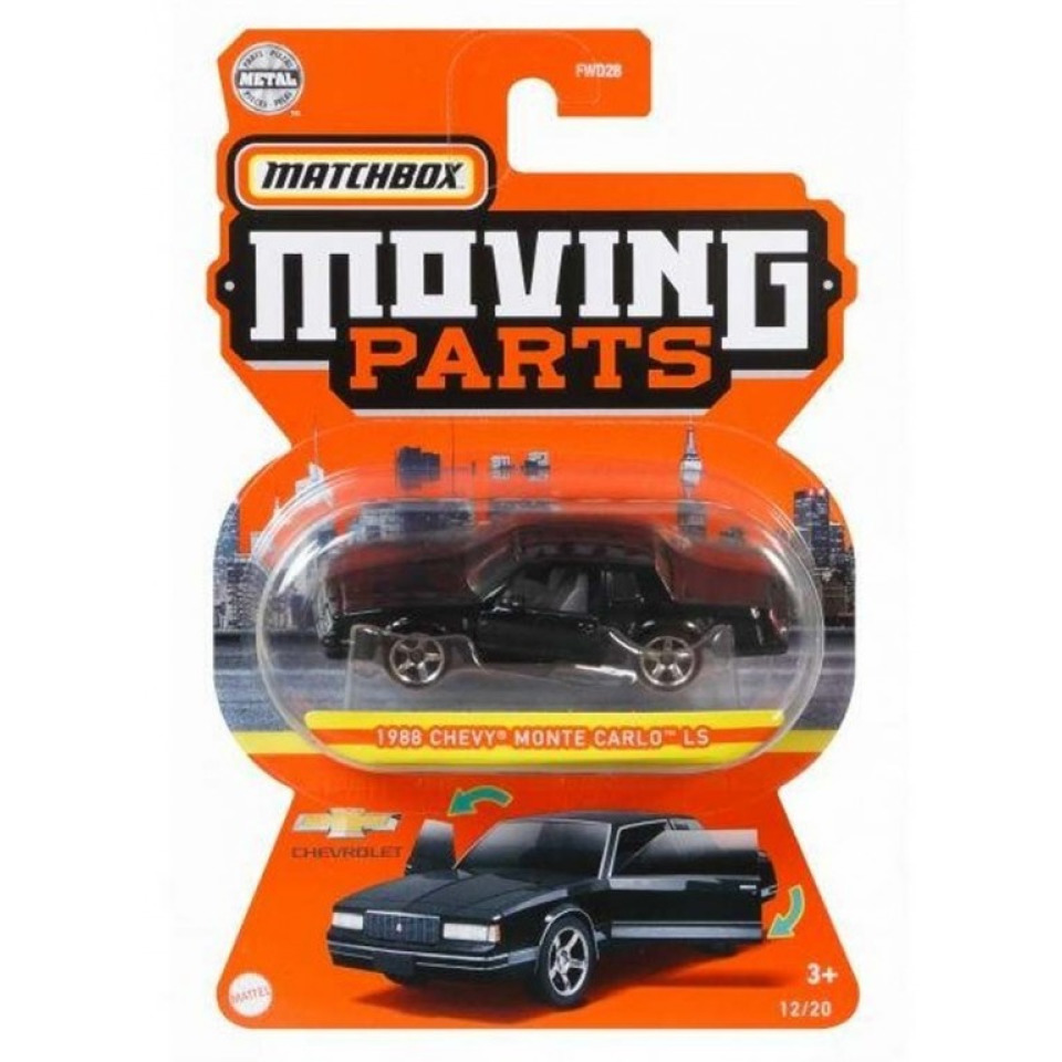 Obrázek 1 produktu Matchbox Moving Parts 1988 Chevy Monte Carlo LS, Mattel GWB44