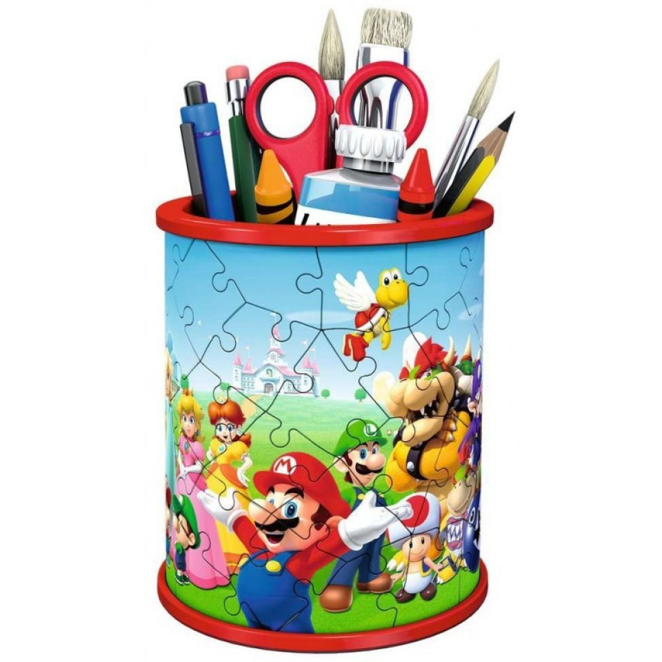 Obrázek 1 produktu Ravensburger 11255 Puzzle 3D Stojan na tužky Super Mario 54 dílků
