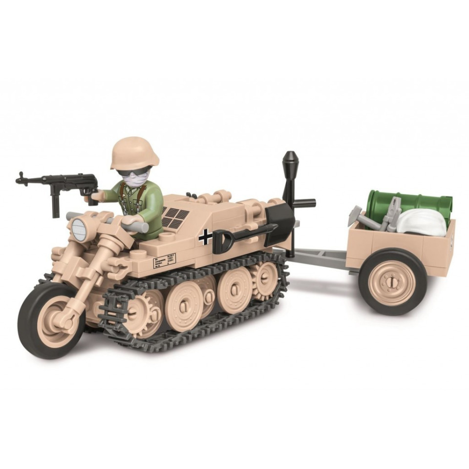 Obrázek 1 produktu COBI 2401 World War II Polopásové vozidlo Sd.Kfz. 2 Kettenkrad HK 101