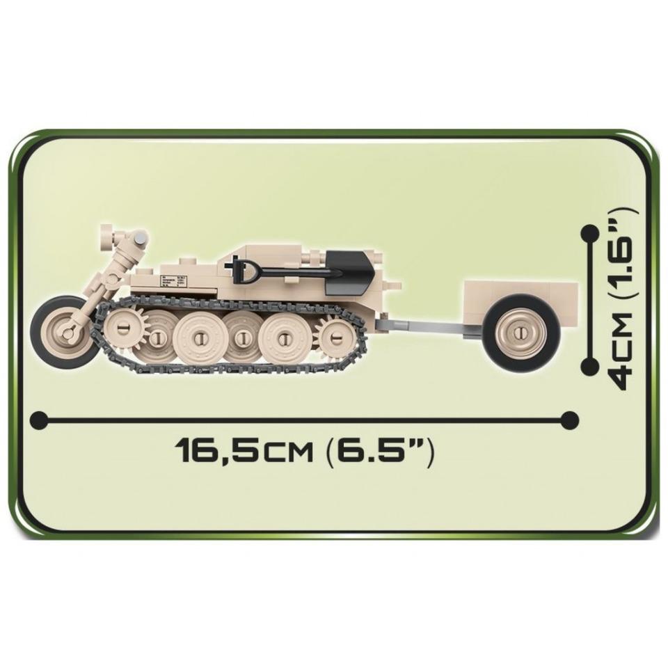 Obrázek 2 produktu COBI 2401 World War II Polopásové vozidlo Sd.Kfz. 2 Kettenkrad HK 101