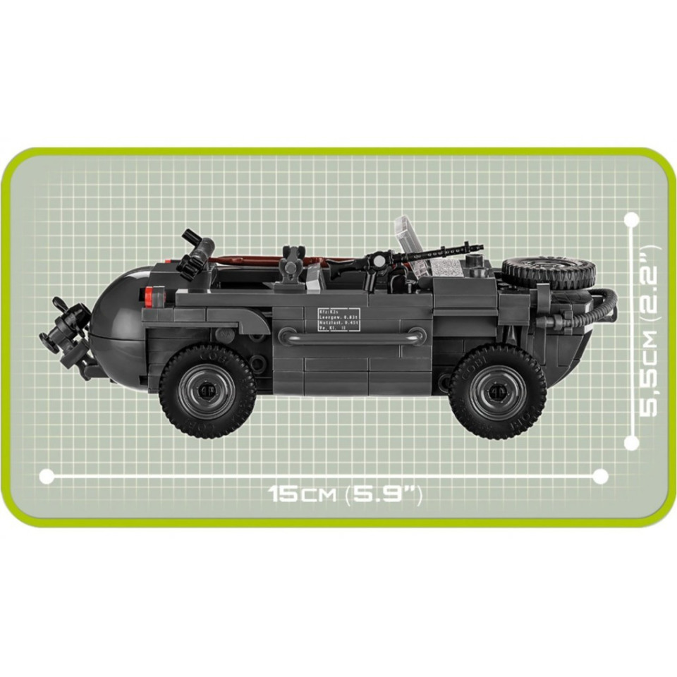 Obrázek 2 produktu COBI 2403 World War II Obojživelné auto VW Schwimmwagen