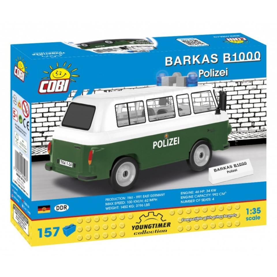 Obrázek 1 produktu Cobi 24596 Barkas B1000 Polizei, 1:35, 157 k