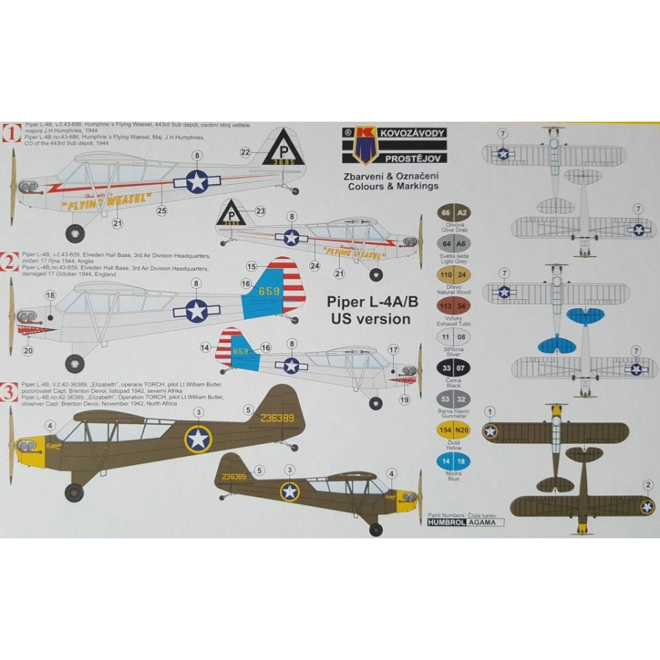 Obrázek 1 produktu Piper L-4A/B 1:72