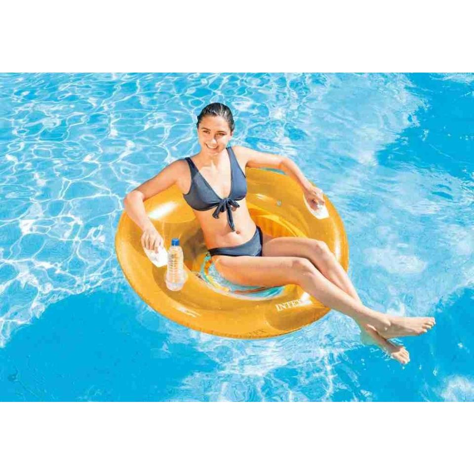 Obrázek 2 produktu Intex 58883 Křeslo plovací Lounge oranžové