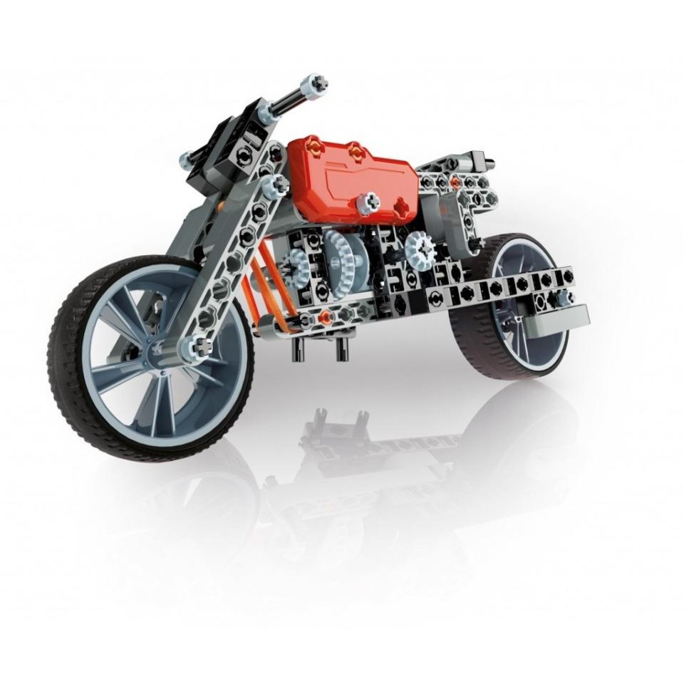 Obrázek 1 produktu Clementoni Mechanická laboratoř - Motorka a formule, 130 dílků