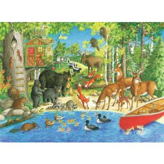 Obrázek 2 produktu Ravensburger 12740 Puzzle Lesní přátelé  XXL 200 dílků