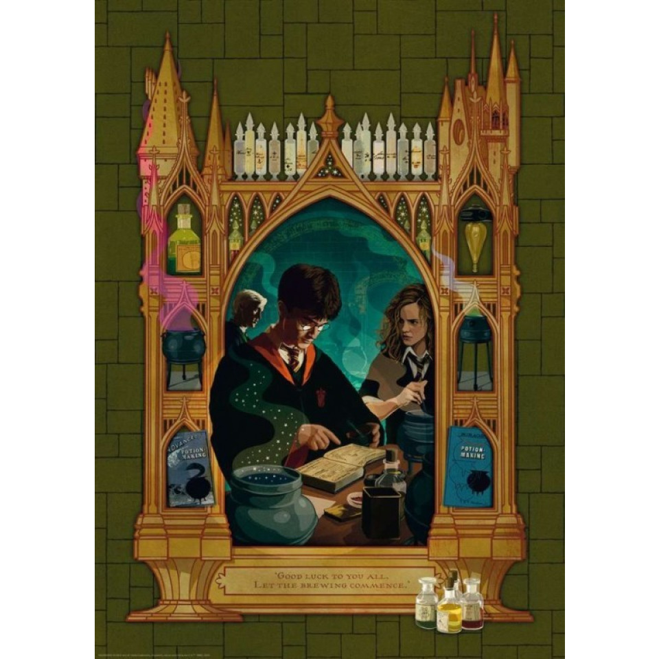 Obrázek 1 produktu Ravensburger 16747 Puzzle Harry Potter Příprava lektvaru 1000 dílků