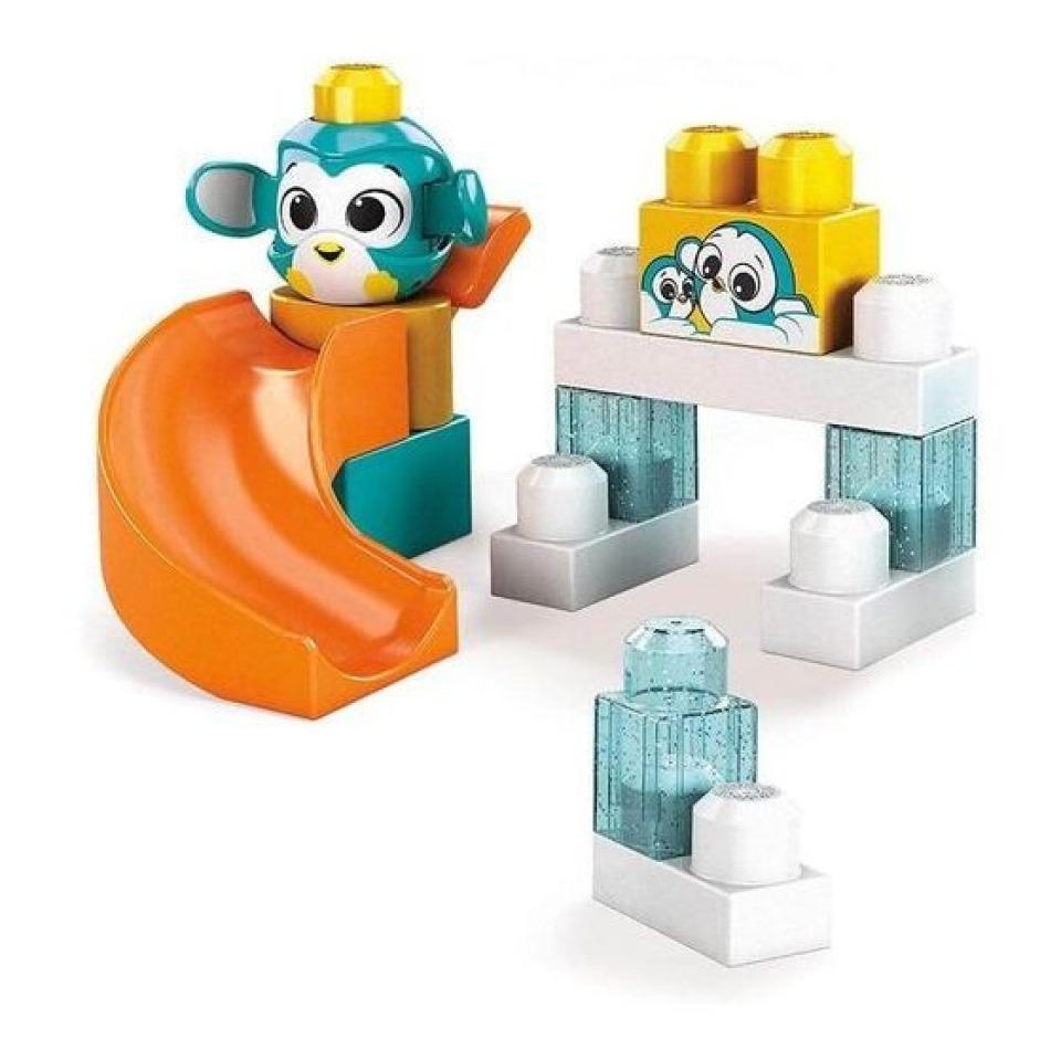 Obrázek 1 produktu Mega Bloks Peek a Blocks Velká skluzavka Tučňák, Mattel GKX67