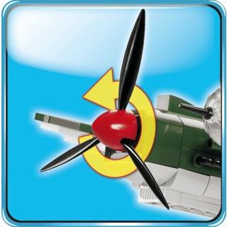 Obrázek 5 produktu COBI 5717 World War II Německý střední bombardér HEINKEL HE 111 P-2