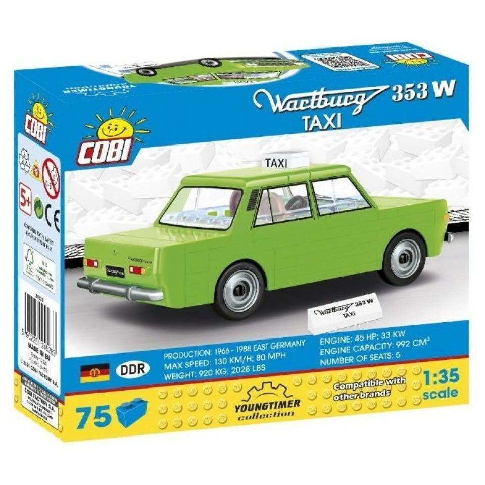 Obrázek 1 produktu COBI 24528 Youngtimer Automobil WARTBURG 353W TAXI