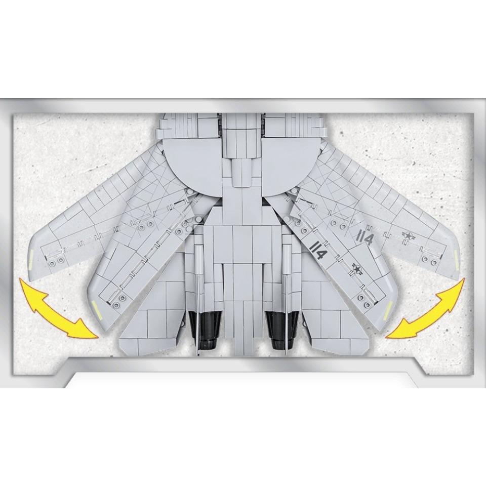 Obrázek 3 produktu COBI 5811 TOP GUN Maverick Americký víceúčelový stíhací letoun F-14A TOMCAT