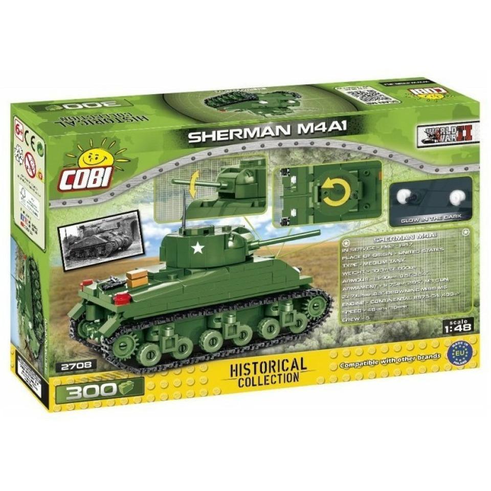 Obrázek 1 produktu COBI 2708 World War II Americký tank Sherman M4A1