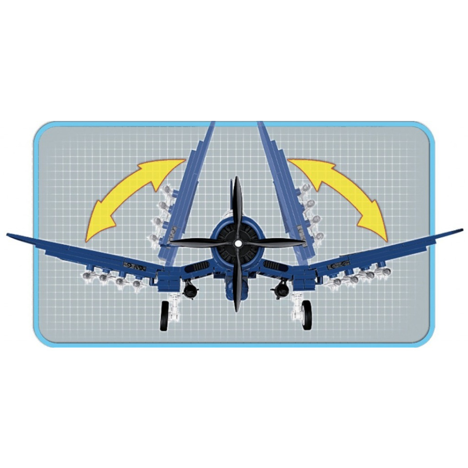 Obrázek 3 produktu COBI 2415 Korean War Americký bitevní letoun AU-1 Corsair