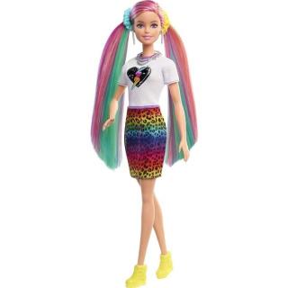 Obrázek 3 produktu Barbie Leopardí panenka s duhovými vlasy a doplňky, Mattel GRN81
