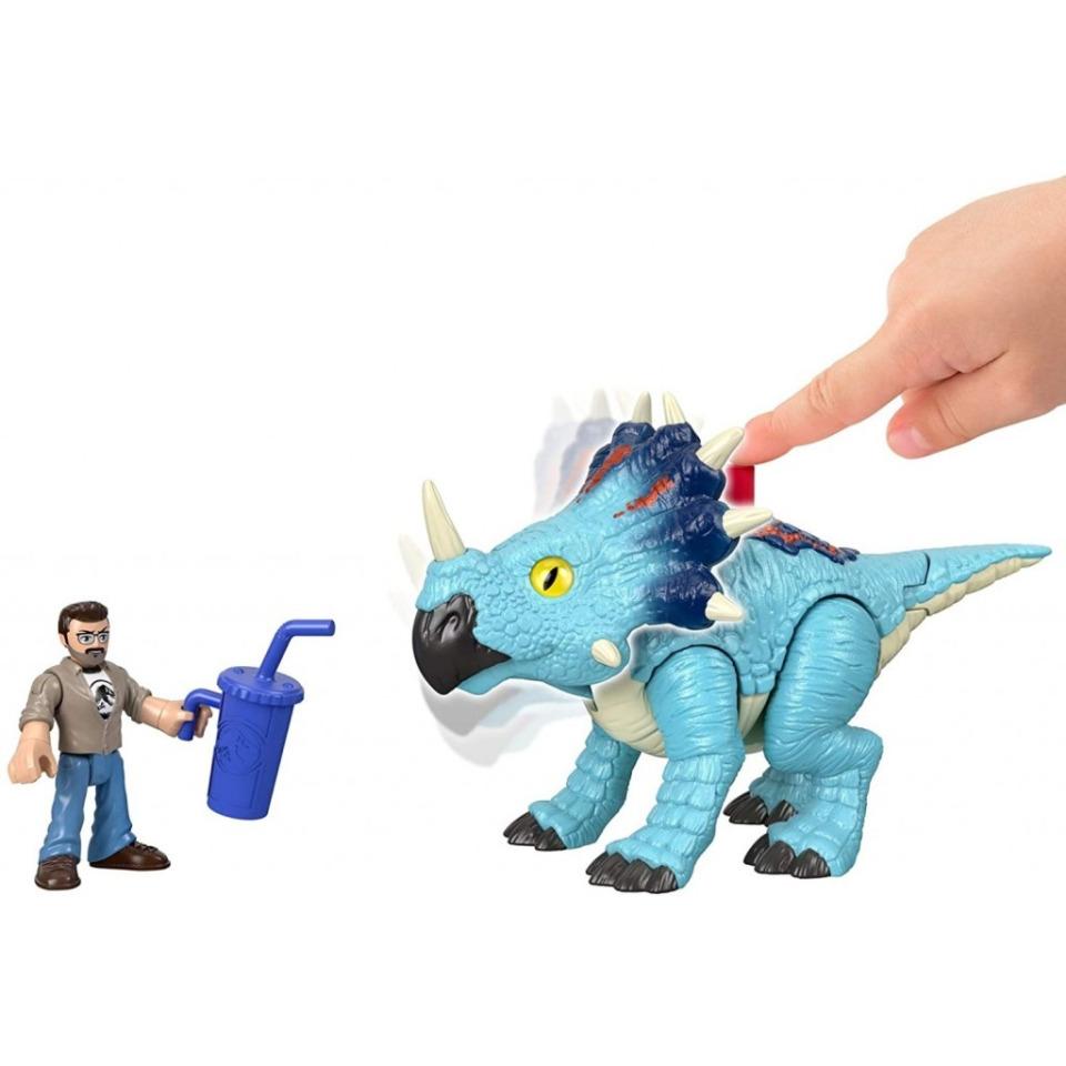 Obrázek 1 produktu Fisher Price Imaginext PACHYRHINOSAURUS a LOWERY, Mattel GMR17