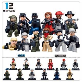 Obrázek 2 produktu Sluban Police M38-B0583 Figurky policie a zloději, 12 druhů