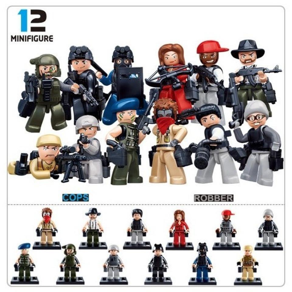 Obrázek 1 produktu Sluban Police M38-B0583 Figurky policie a zloději, 12 druhů