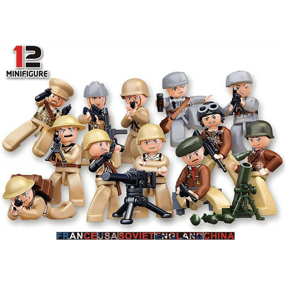 Obrázek 1 produktu Sluban WWII M38-B0580 Figurky vojáci, 12 druhů