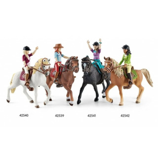 Obrázek 3 produktu Schleich 42542 Černovláska Sarah s pohyblivými klouby na koni