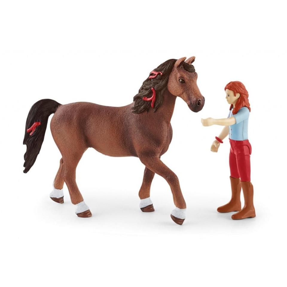 Obrázek 1 produktu Schleich 42539 Zrzka Hannah s pohyblivými klouby na koni