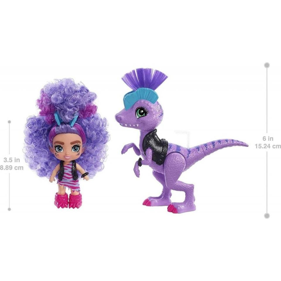 Obrázek 1 produktu Mattel CAVE CLUB Panenka Rebel Tot s dino zvířátkem, GXP24