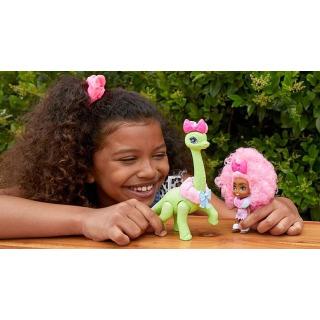Obrázek 3 produktu Mattel CAVE CLUB Panenka Diva Tot s dino zvířátkem, GXP23