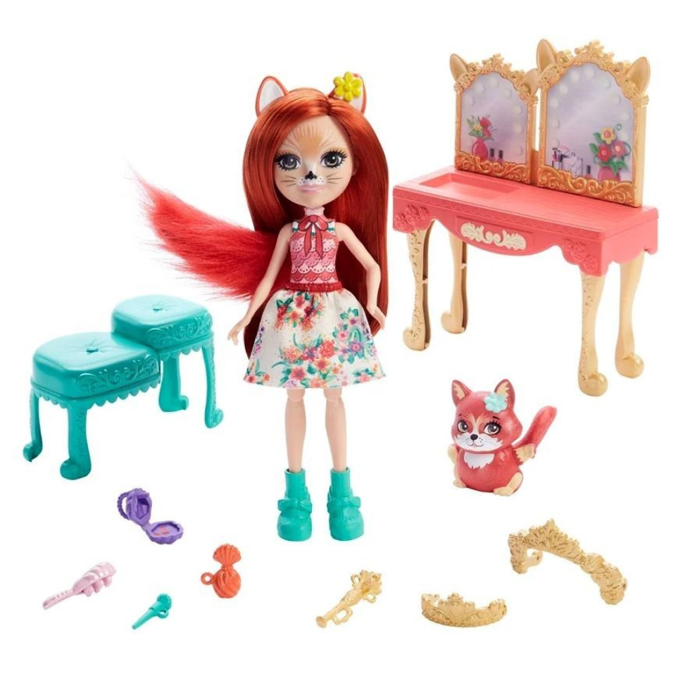 Obrázek 1 produktu ENCHANTIMALS ROYAL Toaletní stolek Felicity Fox, Mattel GYJ05