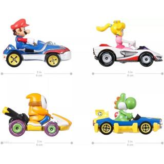 Obrázek 2 produktu Mattel Hot Wheels Mario Kart Sada čtyř motokár s jezdci, GWB38