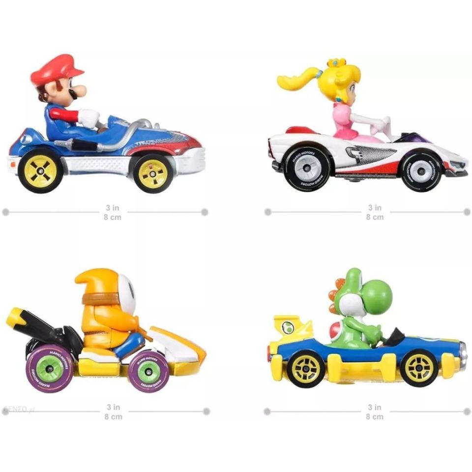 Obrázek 1 produktu Mattel Hot Wheels Mario Kart Sada čtyř motokár s jezdci, GWB38