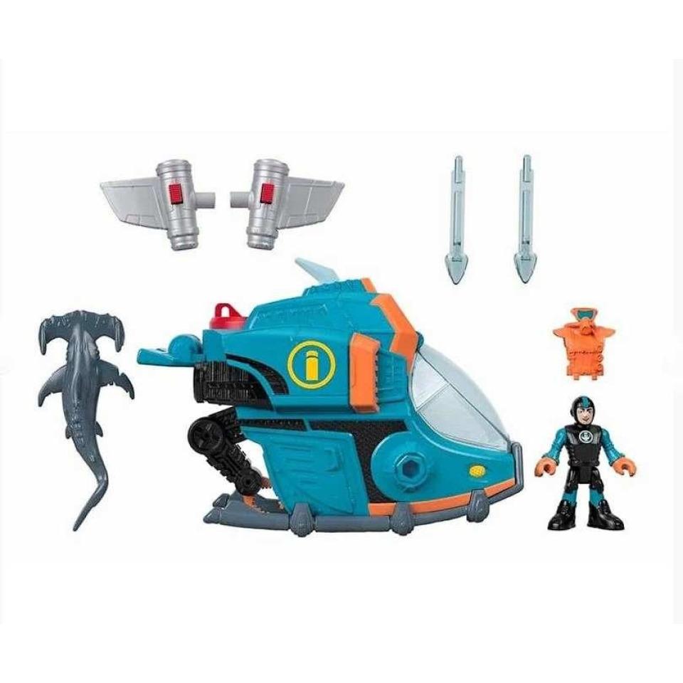 Obrázek 1 produktu Fisher Price Imaginext Ponorka a žralok kladivoun, Mattel GKG80