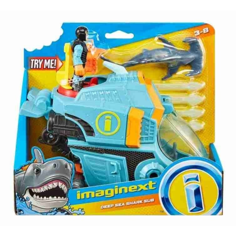 Obrázek 4 produktu Fisher Price Imaginext Ponorka a žralok kladivoun, Mattel GKG80