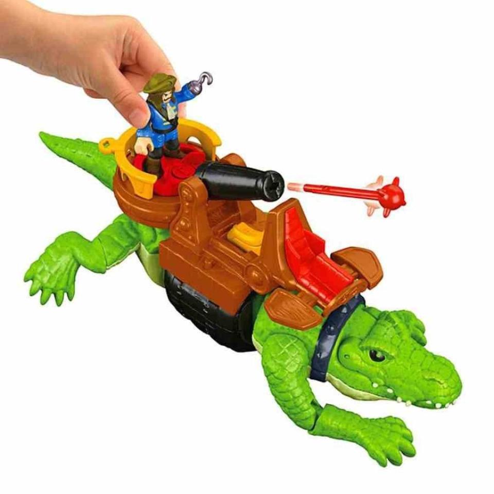 Obrázek 1 produktu Fisher Price Imaginext Kráčející krokodýl a Kapitán Hook, Mattel GHH63