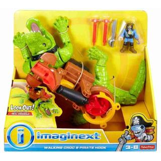 Obrázek 5 produktu Fisher Price Imaginext Kráčející krokodýl a Kapitán Hook, Mattel GHH63