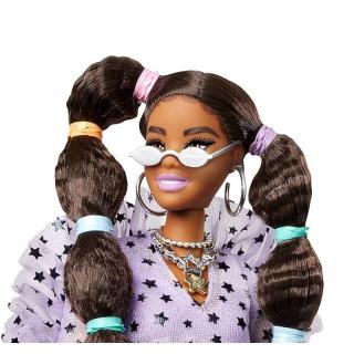Obrázek 2 produktu Barbie Extra Stylová dlouhovláska se zeleným boa a mazlíčkem, Mattel GXF10
