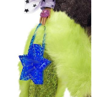 Obrázek 3 produktu Barbie Extra Stylová dlouhovláska se zeleným boa a mazlíčkem, Mattel GXF10