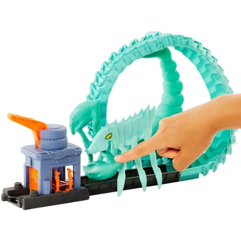 Obrázek 1 produktu Hot Wheels City Utkej se s příšerou Útok toxického škorpiona, Mattel GTT67