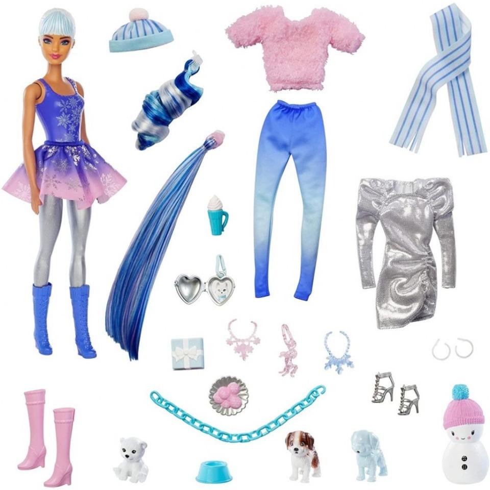 Obrázek 1 produktu Mattel Adventní kalendář Barbie Color Reveal, HBT74