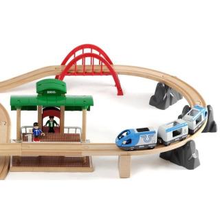 Obrázek 3 produktu BRIO 33512 Vláčkodráha velká s výhybkami, mostem a nástupištěm