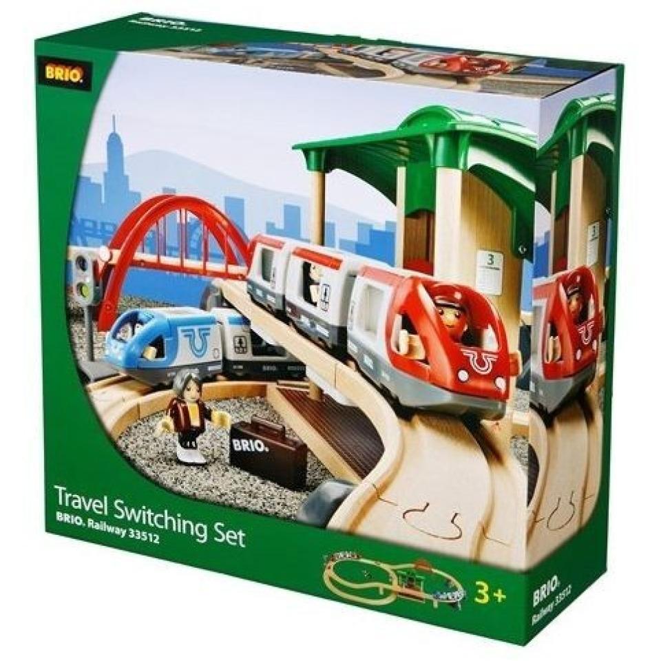 Obrázek 4 produktu BRIO 33512 Vláčkodráha velká s výhybkami, mostem a nástupištěm
