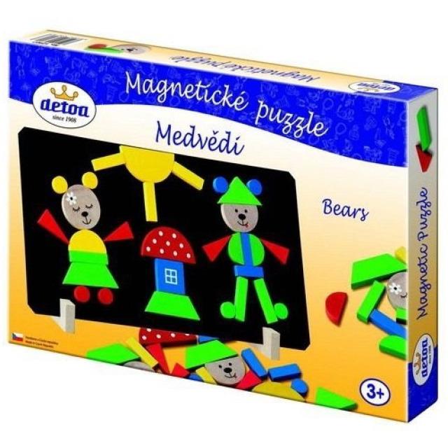 Obrázek produktu Magnetické puzzle Medvědi