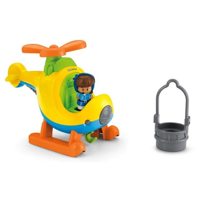 Obrázek produktu Fisher Price Little People Helikoptéra s pilotkou, Mattel BDY82